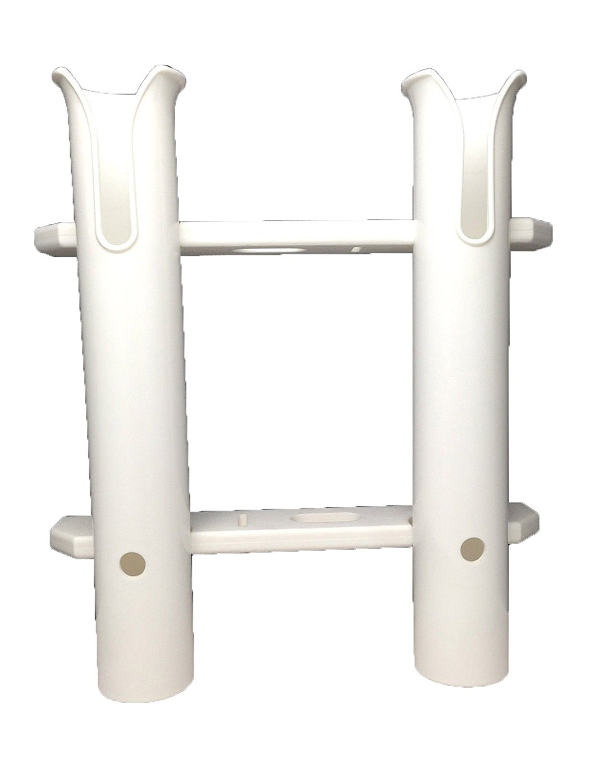 Pactrade Marine Boat White UV Stabilized Plastic Fishing Rod Holder Two Tube Dual by