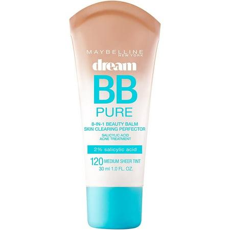 Maybelline Makeup Dream Pure BB Cream, Medium Skintones, BB Cream Face Makeup, 1 fl