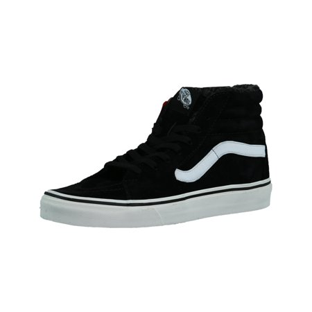 11a80ddf12e2d5 Vans - Vans Sk8-Hi Pig Suede And Fleece Black   Blanc Ankle-High Skateboarding  Shoe - 8M 6.5M - Walmart.com