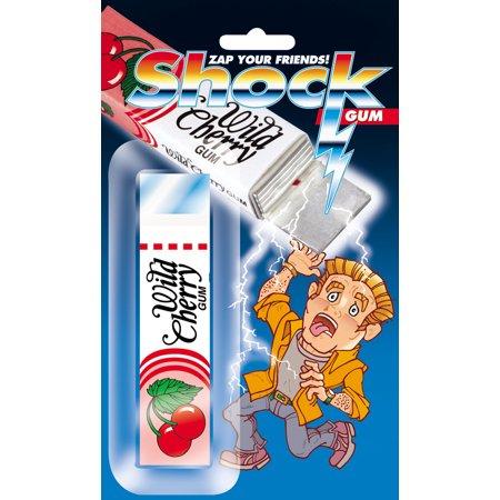 Joker Halloween Prank (Joker Shock Wild Cherry trick Gum Package 4in Shocking Prank,)