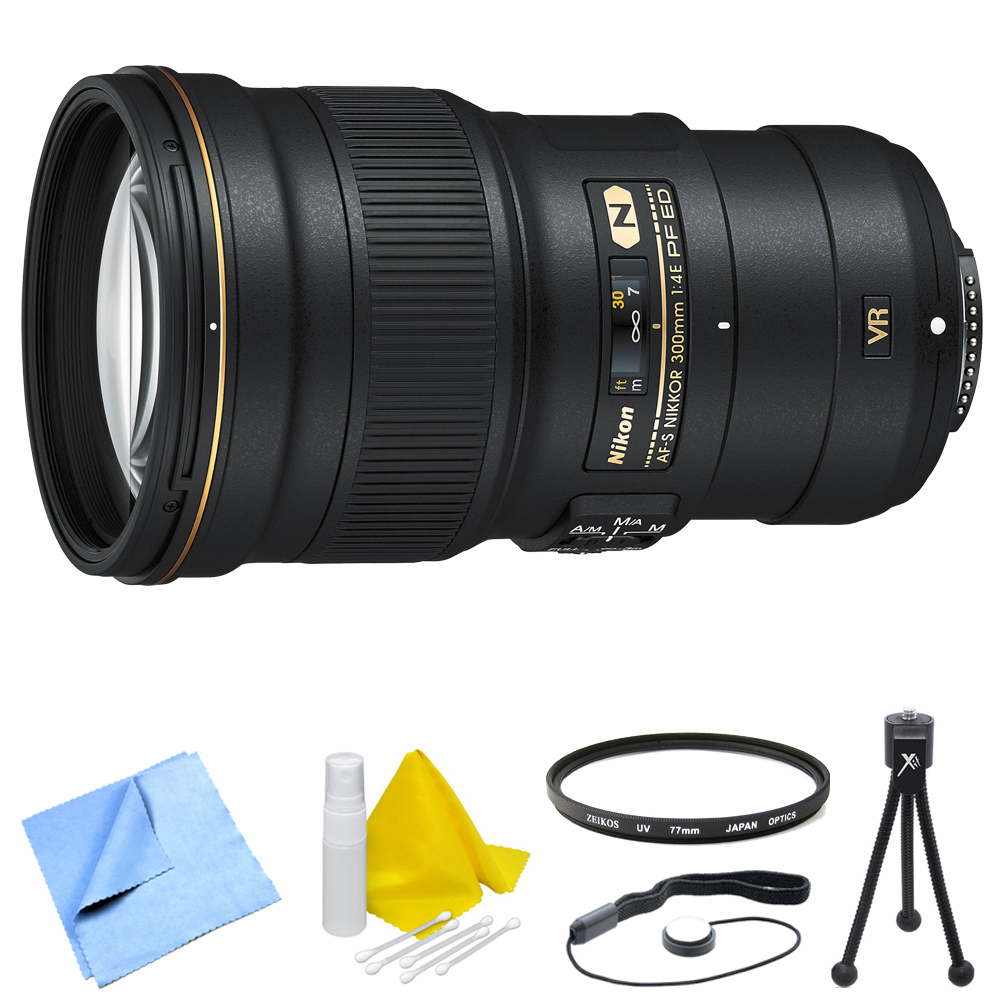 Nikon AF-S NIKKOR 300mm f/4E PF ED VR Lens and Filter Bun...