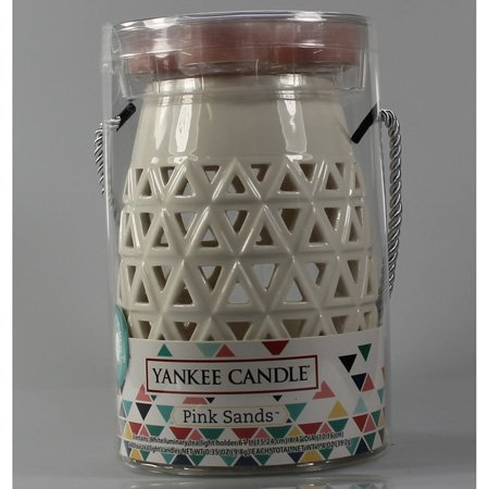 Yankee Candle Triangles Luminary Tealight Set w/ 4 Scented Tea (Relax Luminary Candle)