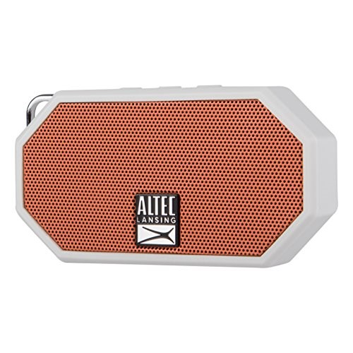 Altec Lansing IMW257-OW-A Mini H2O Waterproof, Sand proof, Snow proof and Shockproof Bluetooth Speaker, Orange White by Altec Lancing