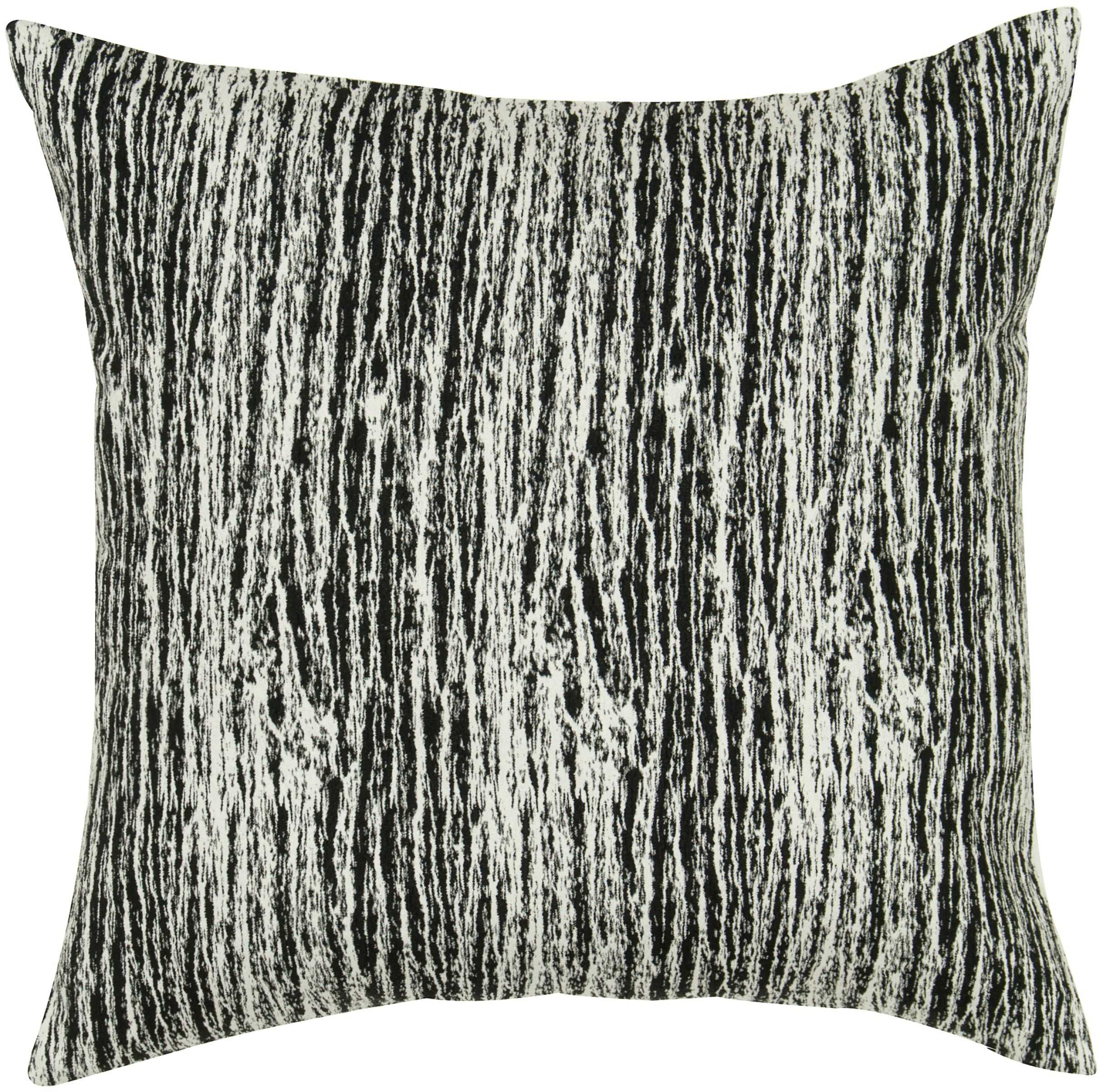 "Rizzy home T05534 18"" x 18"" black cotton decorative filled pillow"