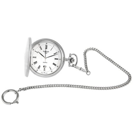 - Tissot Savonnettes Stainless Steel Pocket Watch T83655313