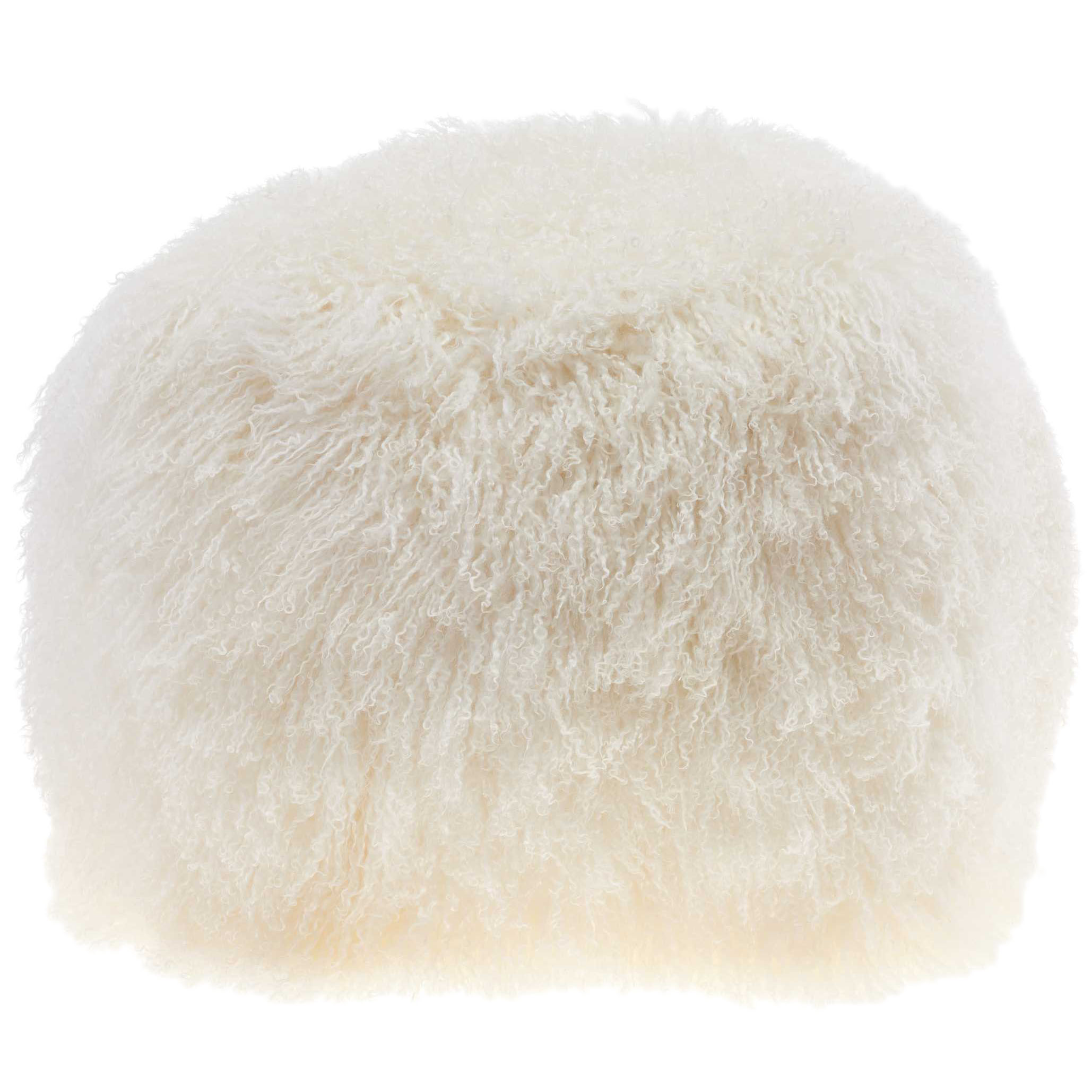 Nourison Couture Fur Tibetan Lamb Skin Ivory Cube