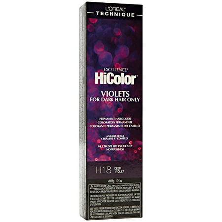 L'oreal Paris Excellence Hicolor Permanent Hair Color, Deep (L Oreal Excellence Hicolor For Dark Hair)