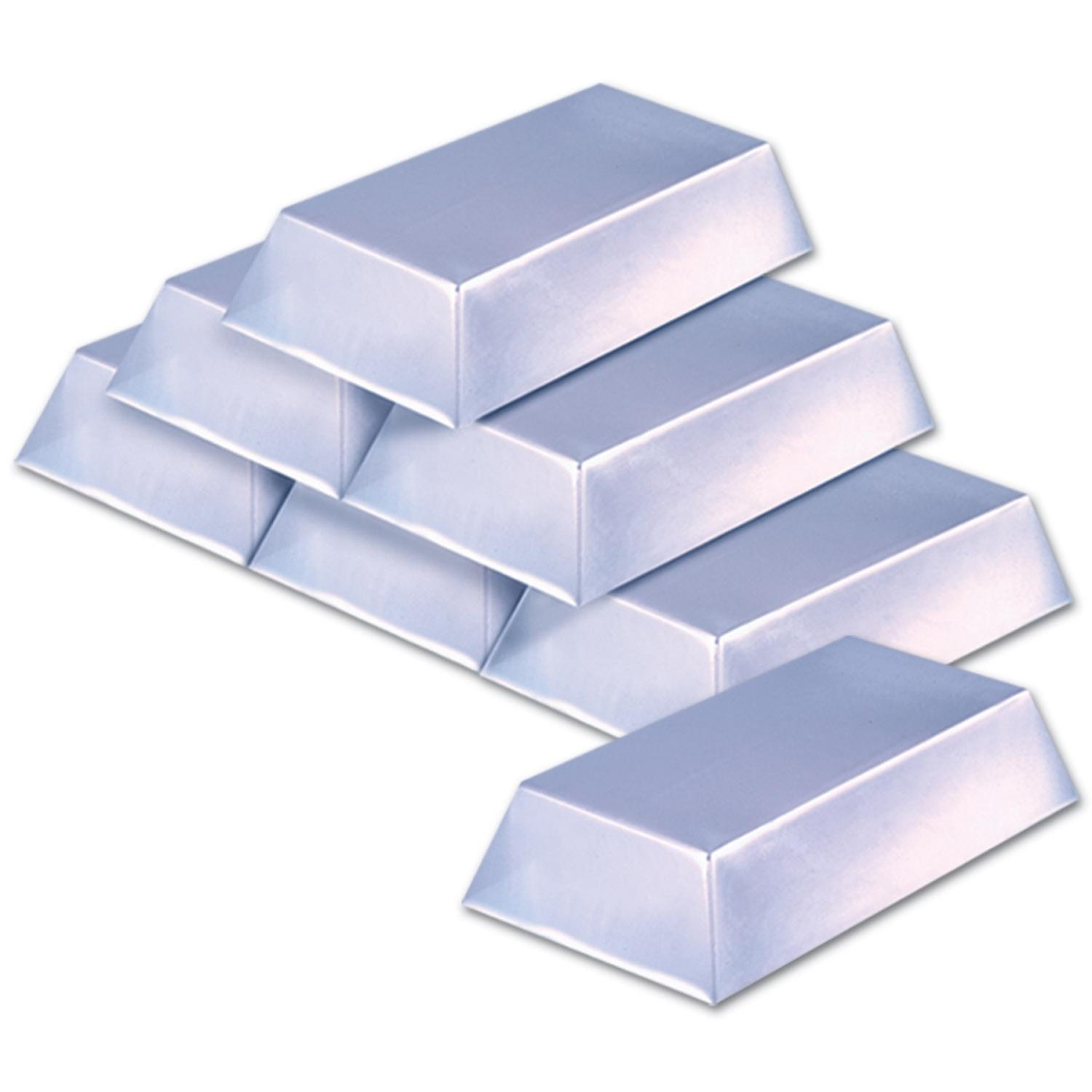 """Club Pack of 72 Pirate Themed Plastic Silver Bar Party Decorations 7"""""""