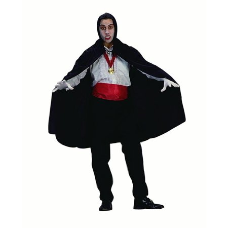 45'' Hooded Cape Costume - Black Hooded Cape Costume