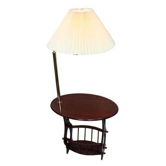 Brass Floor Lamp End Table Magazine Rack Combination - Walmart.com