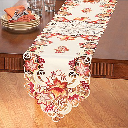 Elegant Fall Leaves Table Linens -