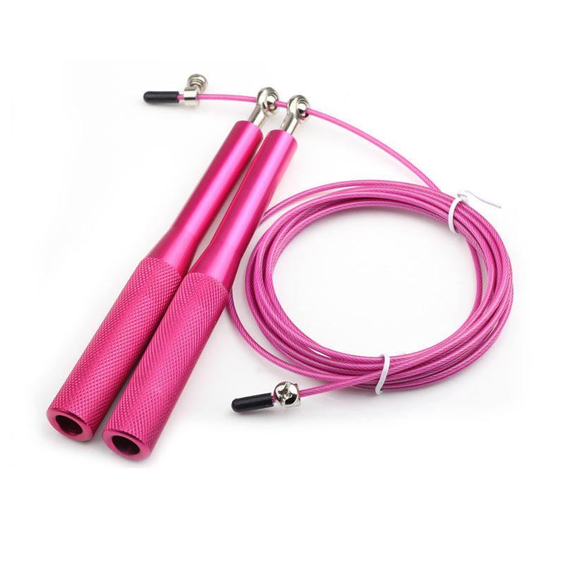 Nation Speed Jump Rope - Blazing Fast Jumping Ropes - Endurance Workout for Boxing, MMA, Martial Arts or Just Staying Fit + FREE Skipping Training Included - Adjustable for Men, Women and Children