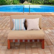 International Home Amazonia Patio Chair in Brown and Khaki