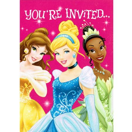 - Disney Princess 'Sparkle and Shine' Invitations w/ Envelopes (8ct)