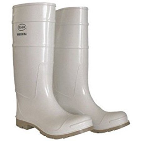Boss Mfg 2PP192410 16 in. PVC Over The Sock Waterproof Fishing & Shrimper Boots - Size 10, White (Snowboard Size 10 Boots)