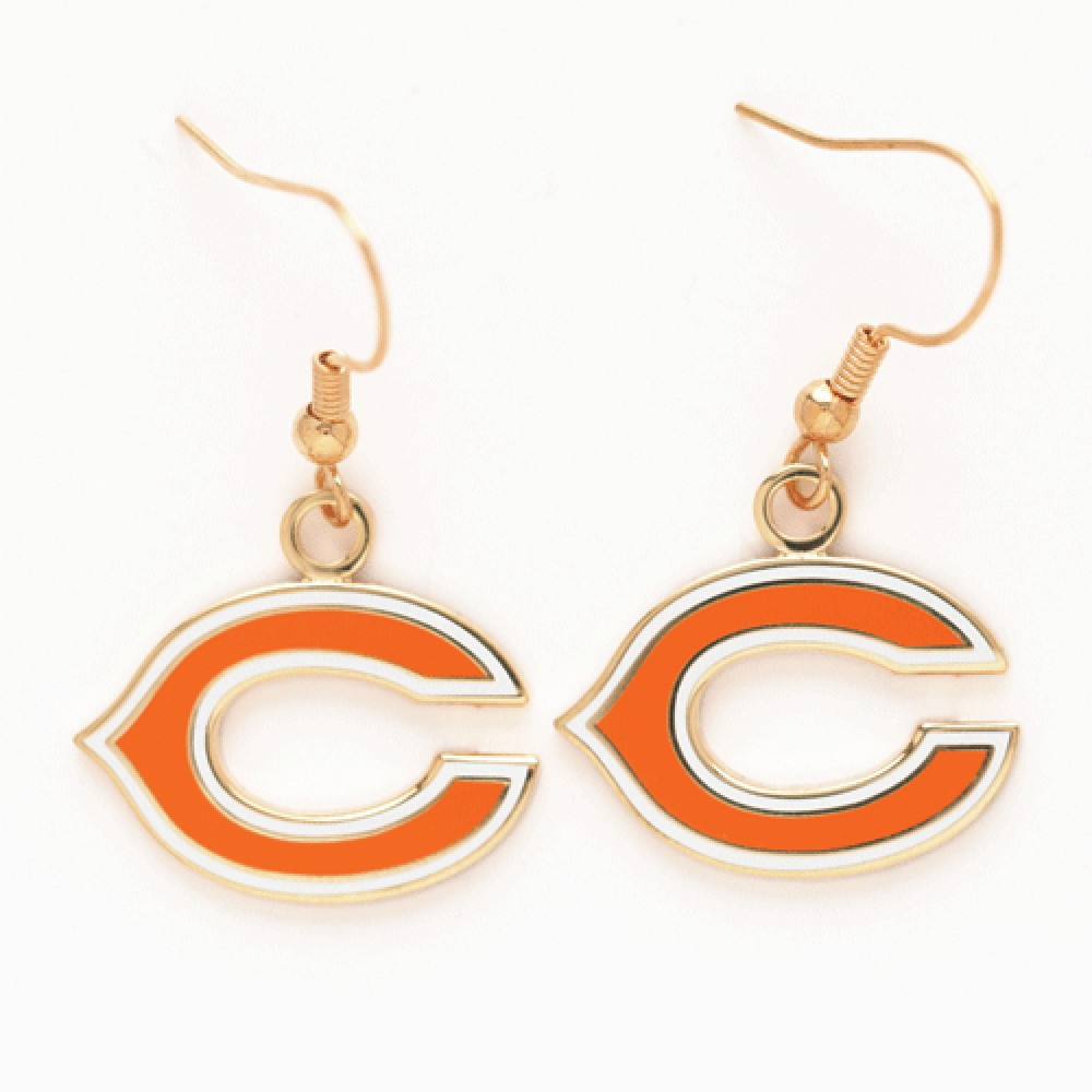 Chicago Bears Official NFL 1 inch  Earrings by Wincraft