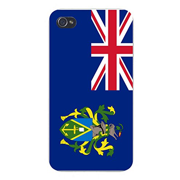 Apple iPhone Custom Case 4 4S White Plastic Snap On - World Country National Flags - Pitcairn Islands