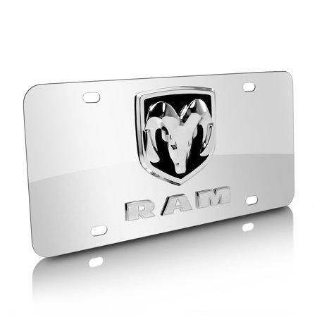 Dodge RAM Chrome Stainless Steel License Plate