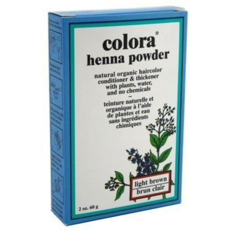 Colora Henna Powder Hair Color Light Brown, 2 oz
