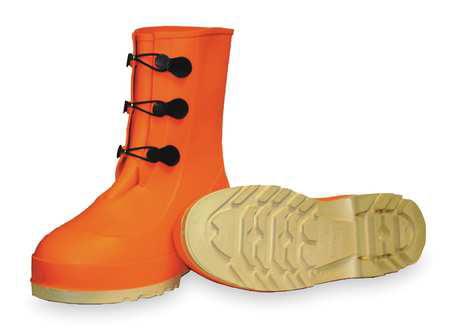Tingley Size 7 Steel Toe Mid-Calf Boots, Men's, Orange, 82330