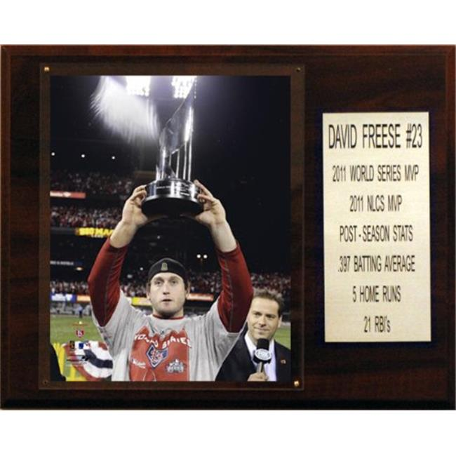 C & I Collectables 1215FREESEMVP MLB 12 X 15 David Freese 2011 World Series MVP St.  Louis Cardinals Player Plaque