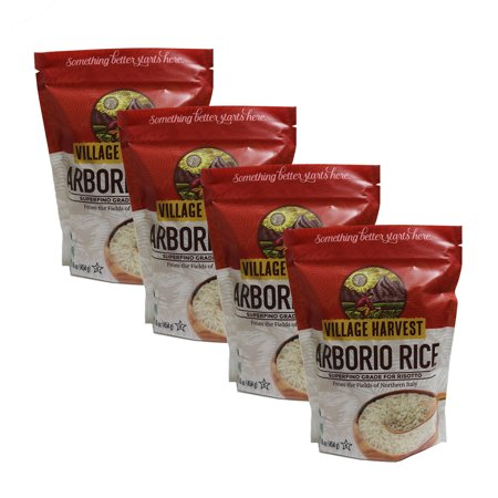 (4 Pack) Village Harvest Superfino Arborio Rice For Risotto, 16