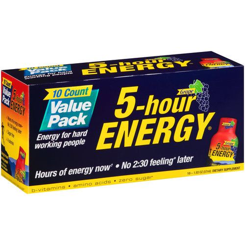 5-hour ENERGY Grape Dietary Supplement, 1.93 oz, 10 count