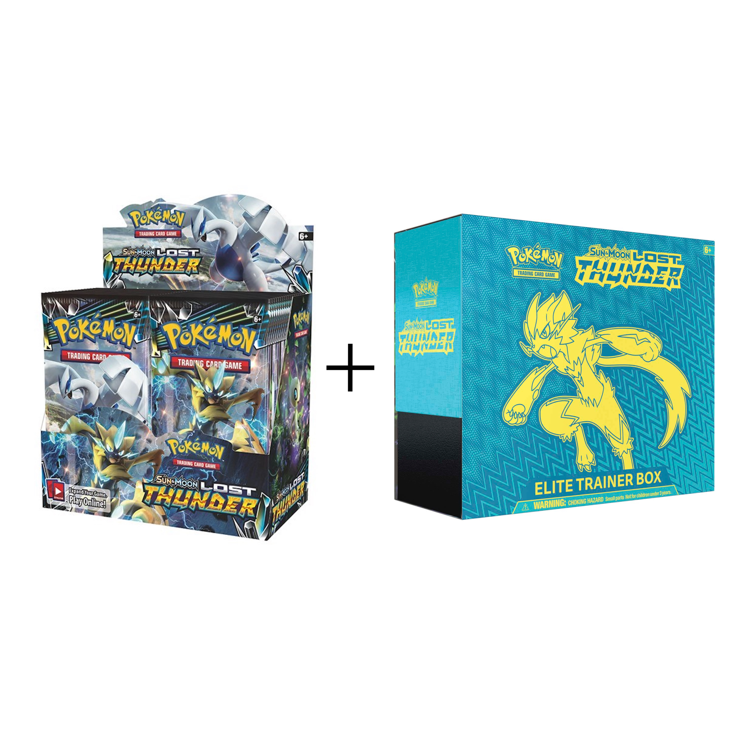 Pokemon TCG: Sun & Moon Lost Thunder Booster Box and Elite Trainer by Pokemon