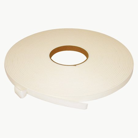 JVCC DC-PEF12A Double Coated Polyethylene Foam Tape: 1/8 in. thick x 1/2 in. x 18 yds. (White)
