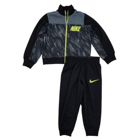 Nike Athletic Track Pants - Nike Toddler Boys Black/Volt Track Suit Athletic Jacket & Pants Set 2T