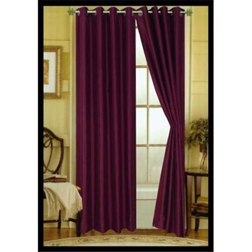 Editex 627V8408 84 inch Elaine Faux Silk Panel with Grommets in Purple