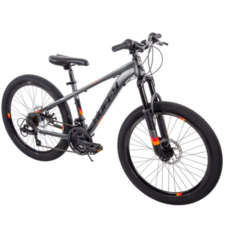 "Huffy 24"" Scout Boys' Hardtail 21-Speed Mountain Bike with Disc (Best Rated Hardtail Mountain Bike)"
