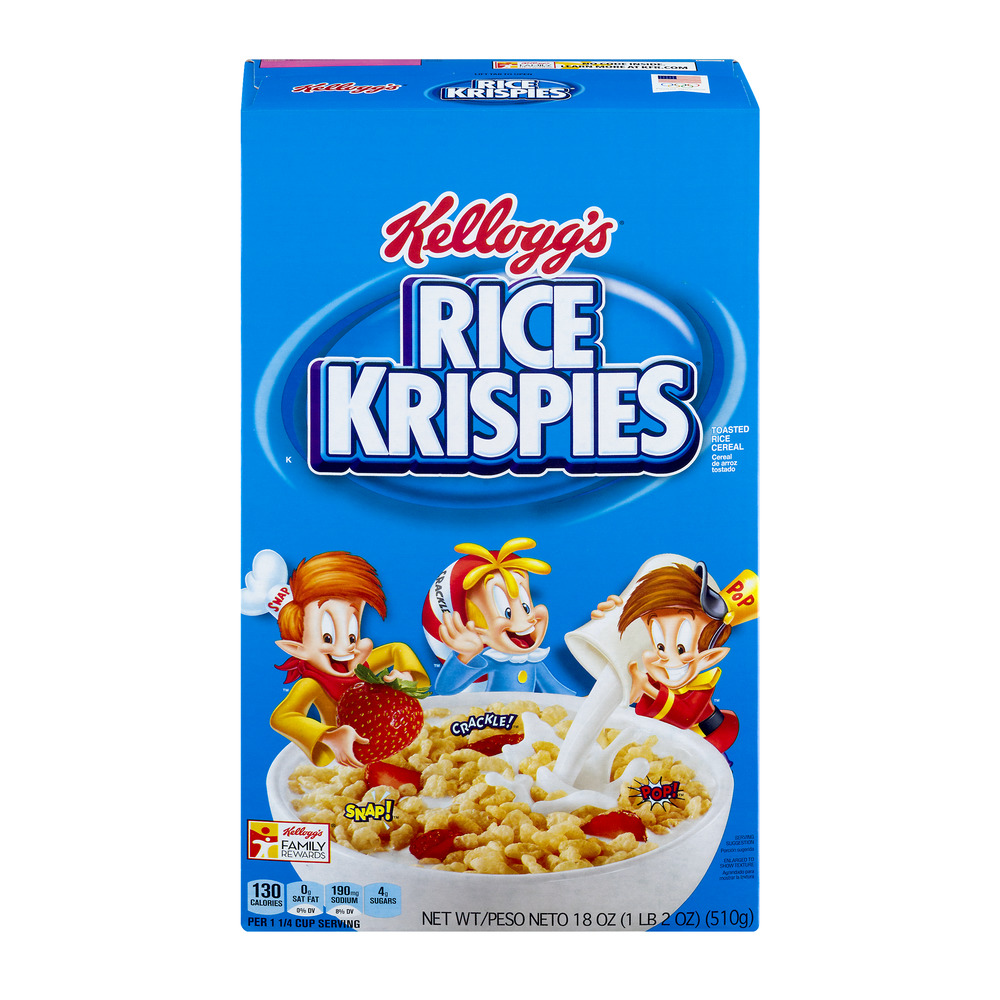 Kellogg's Rice Krispies Toasted Rice Cereal, 18.0 OZ