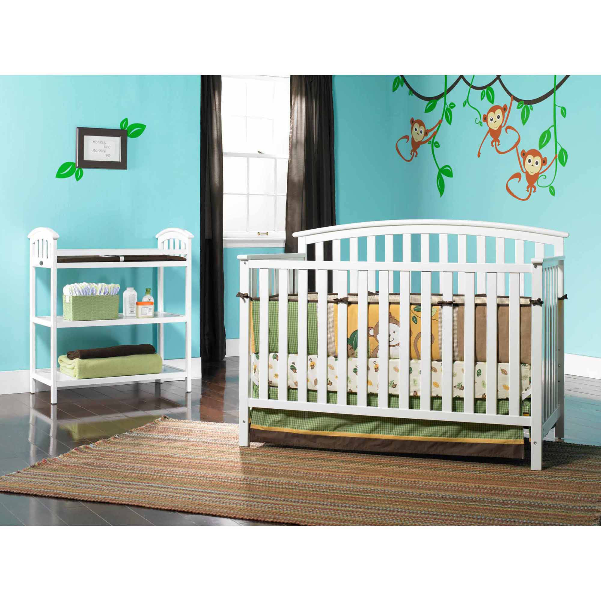 Graco Freeport 4-in-1 Convertible Fixed-Side Crib, White