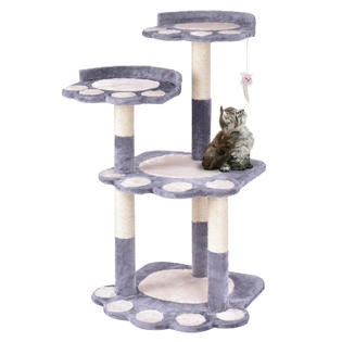 "42"" Cat Tree Kitten Pet Furniture Multi-level Climb Scratching Posts Paw Gray by"