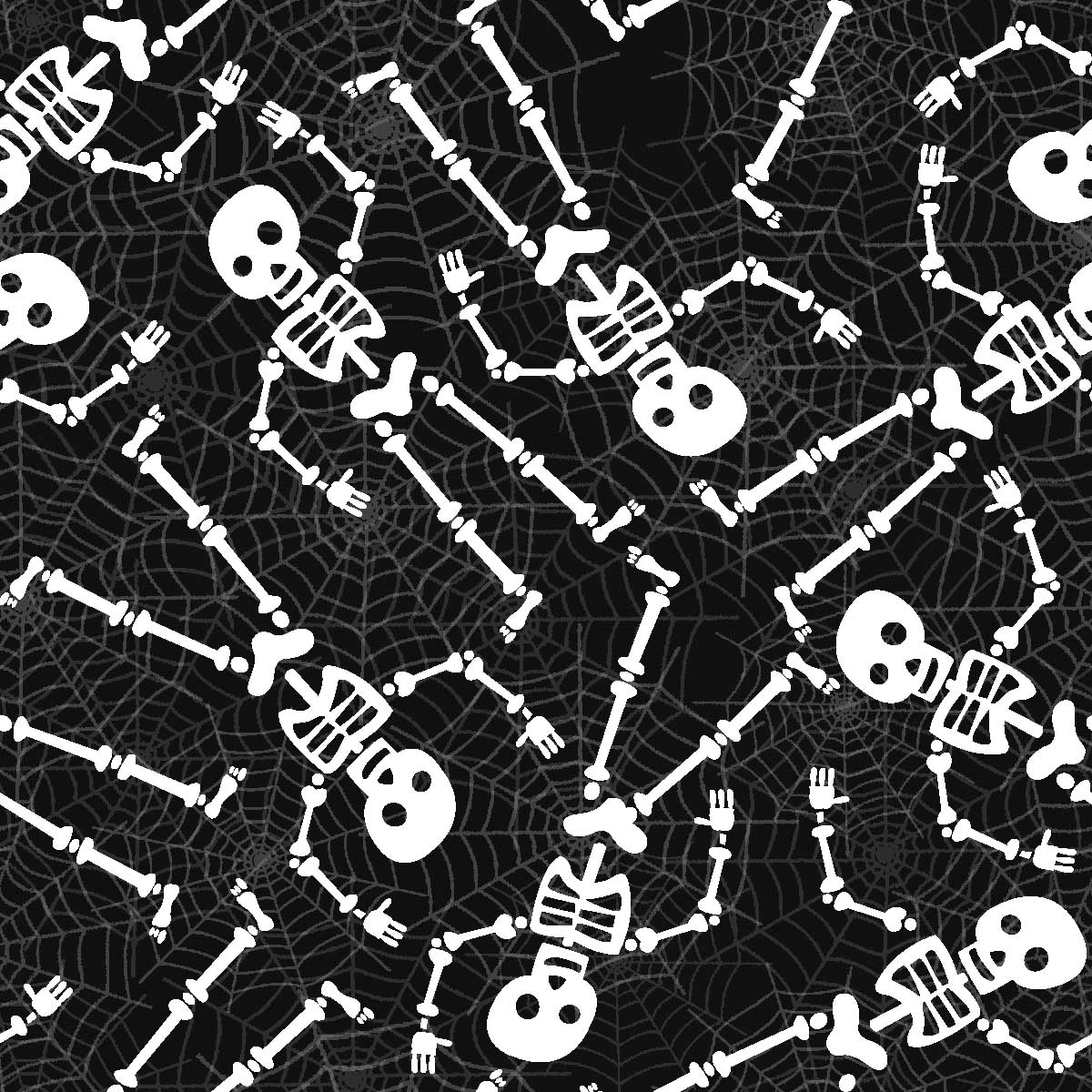 FABRIC EDITIONS, COTTON FABRIC, FAT QUARTER, 18X21, HALLOWEEN SKELETON