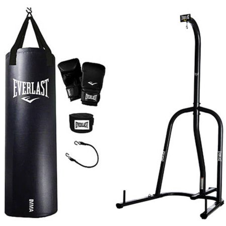 Everlast Single Station Heavy Bag Stand with MMA Kit Value