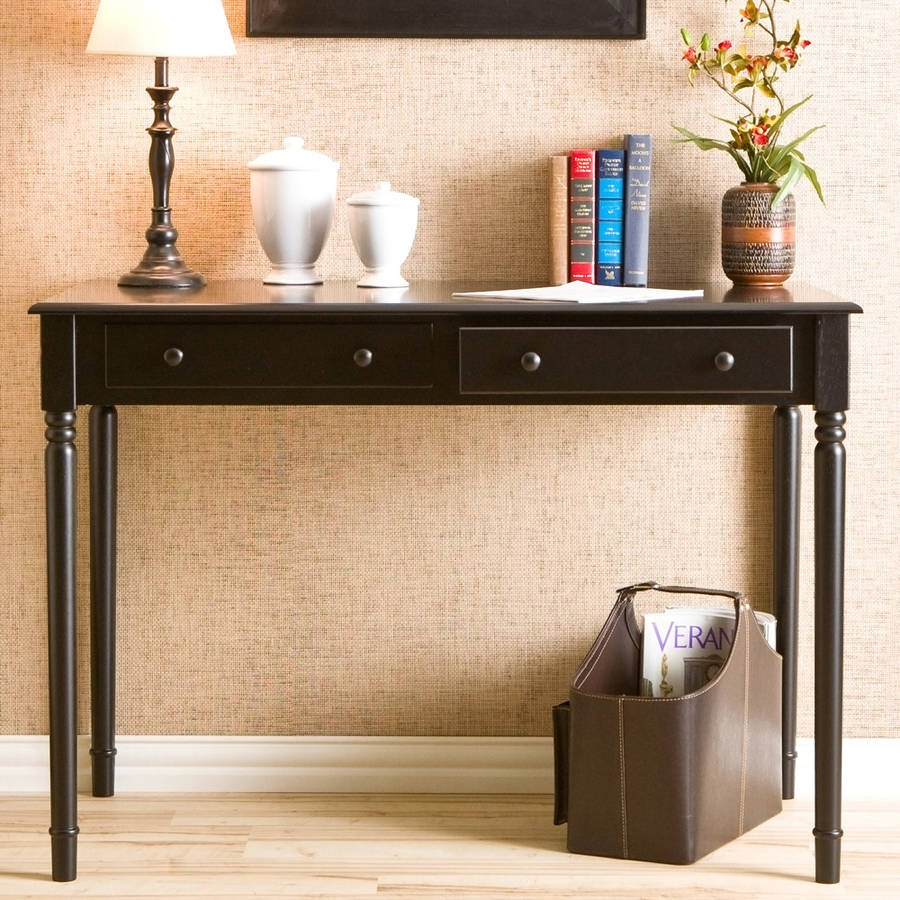 Haslet Writing Desk, Black