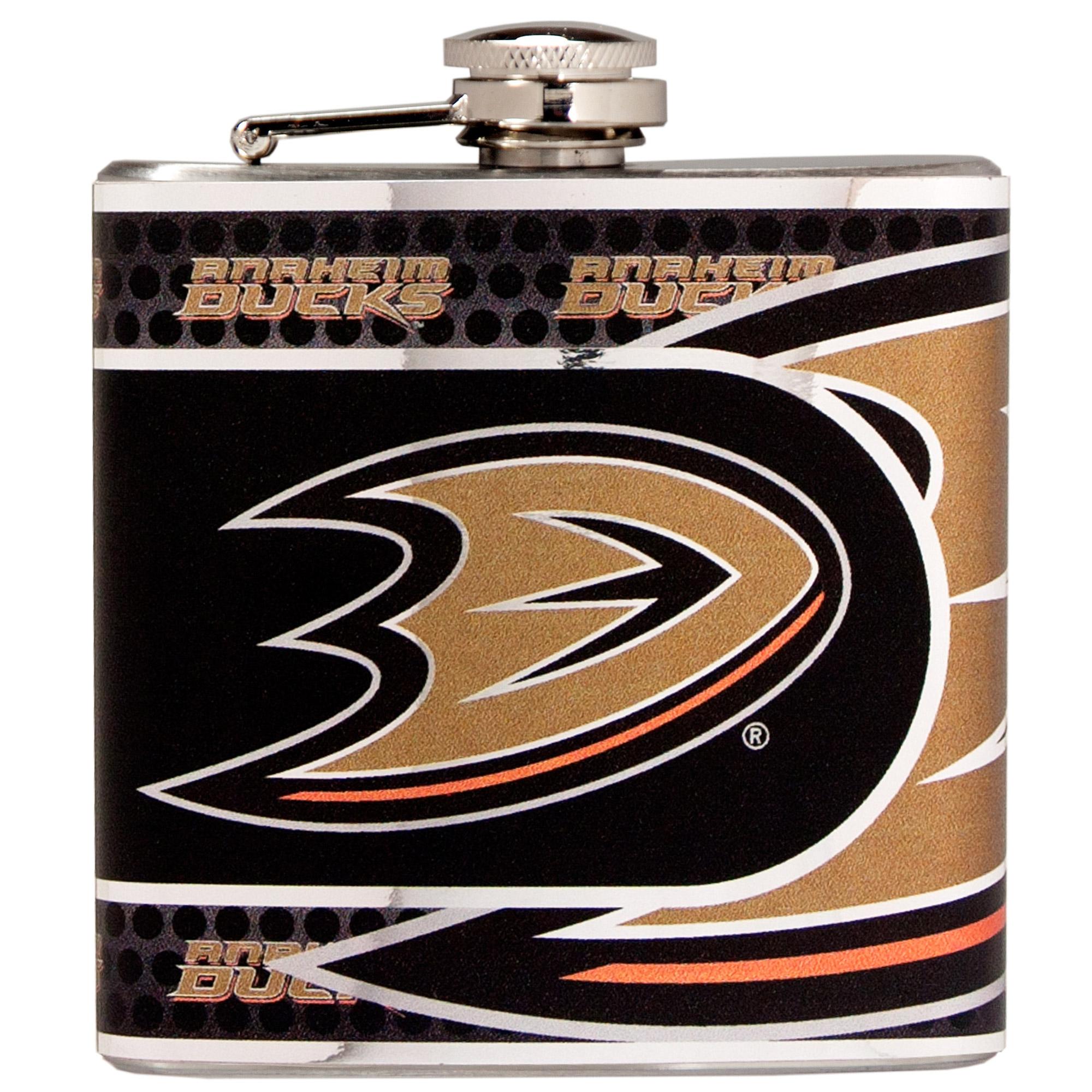 Anaheim Ducks 6oz. Stainless Steel Hip Flask - Silver - No Size