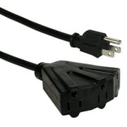 QVS 10ft Three Angle Outlet 3-Prong Power Extension Cord