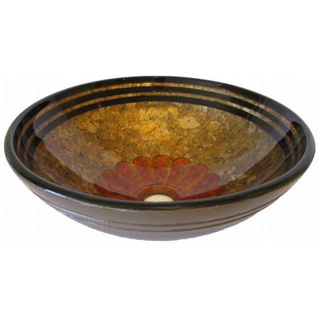 Novatto NOHP-G024CH Tappezzeria Glass Vessel Bathroom Sink Set, Chrome - image 1 de 1