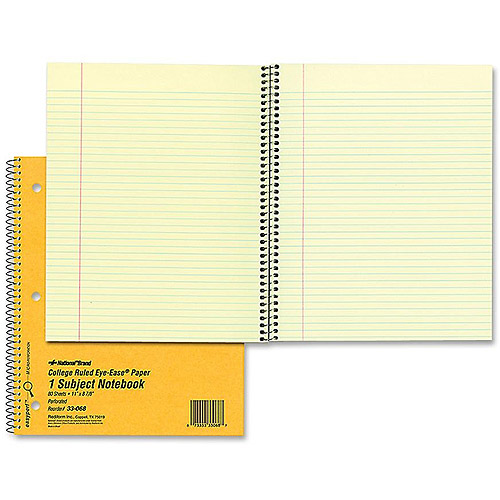 Rediform College Ruled Brown Board Cover Notebook