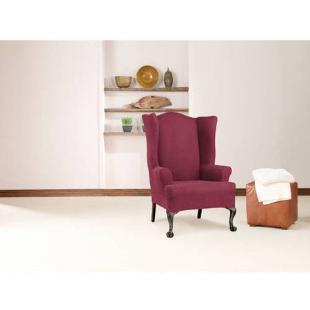 Sure Fit Simple Stretch Twill 1-Piece Wing Chair