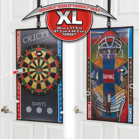 Majik Over the Door 2-in-1 Dartboard and Baseball Darts