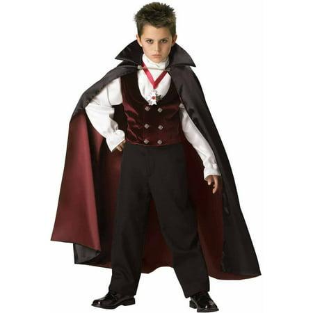 Gothic Vampire Elite Collection Boys' Halloween Costume