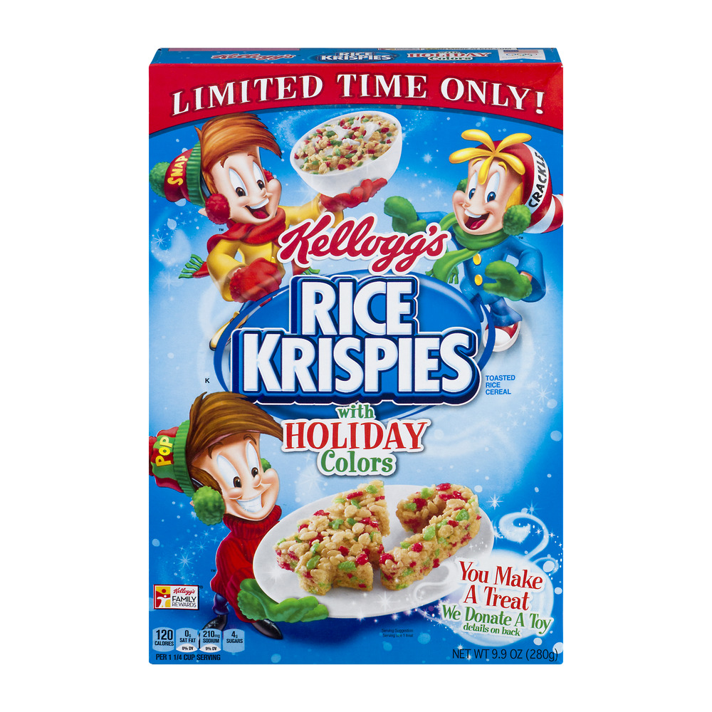 Kellogg's Rice Krispies Cereal, With Holiday Colors, 9.9