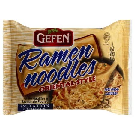 (3 Pack) Gefen Oriental Style Chicken Flavor Ramen Noodles (3Oz) (Pack of 24)](Oriental Noodles)