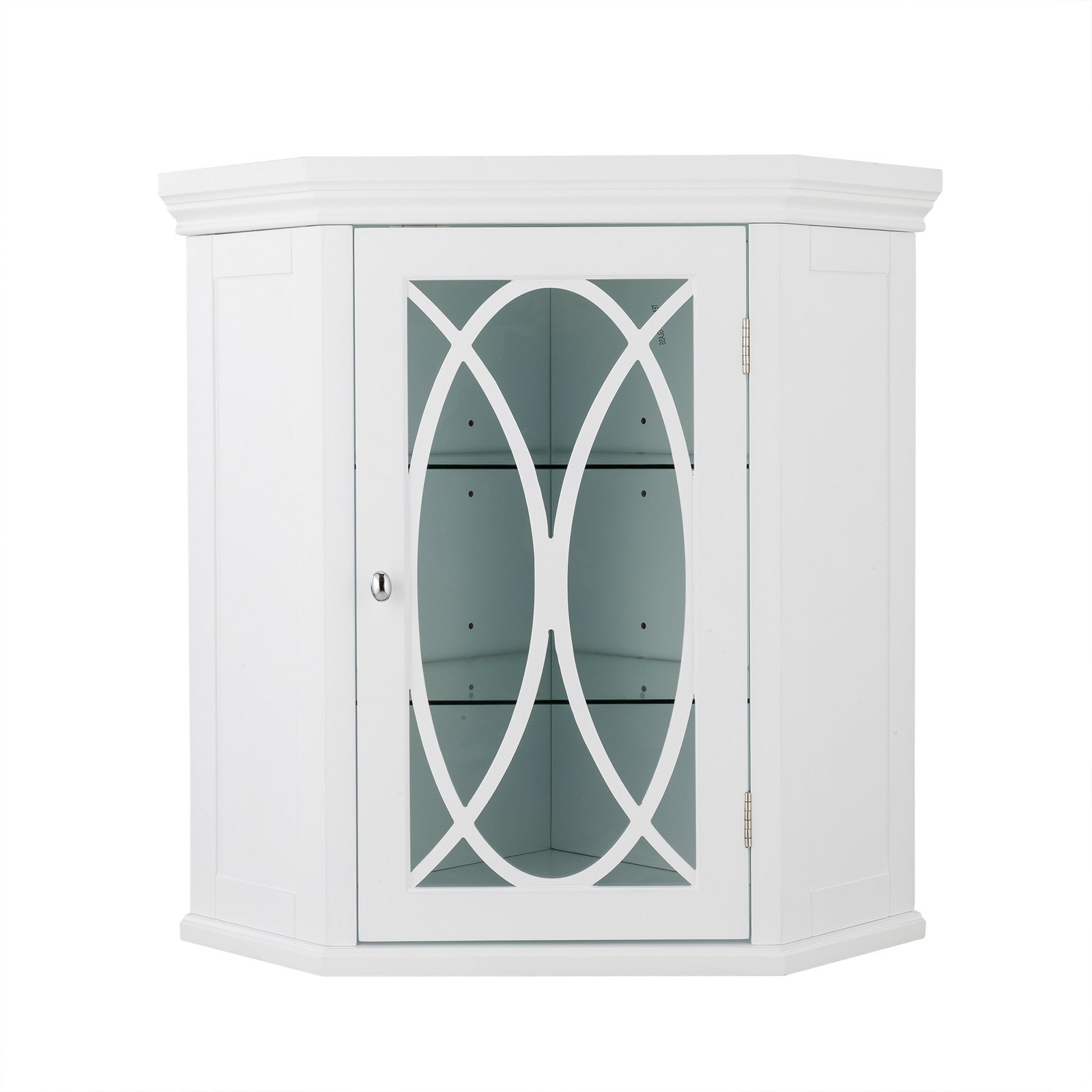 Elegant Home Fashions Meadow Corner Wall Cabinet