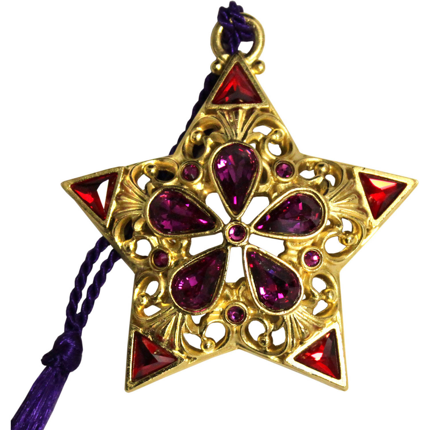 Gloria Duchin Filigree Gold Star with Crystals Christmas Ornament