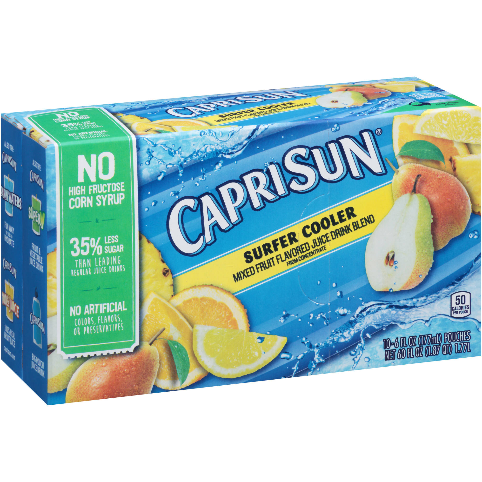 Capri Sun Surfer Cooler Juice Drink, 6 fl oz, 10 count